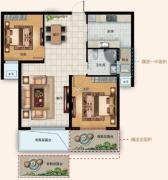 水韵天成2室2厅1卫0平方米户型图