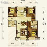 华发首府3室2厅2卫140平方米户型图
