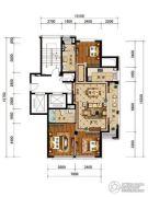 绿城・风华园3室2厅2卫126平方米户型图