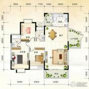 国际新城3室2厅2卫126平方米户型图