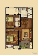 海峡城2室2厅1卫86平方米户型图