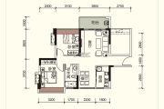 祥圣富地2室2厅1卫78平方米户型图