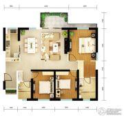 俊发・滨海俊园3室2厅2卫130平方米户型图