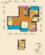 博雅锦苑2室2厅1卫90平方米户型图