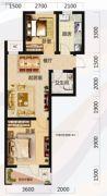 唐轩北廷2室2厅1卫68平方米户型图
