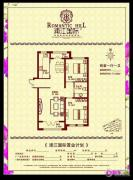浦江国际2室1厅1卫0平方米户型图