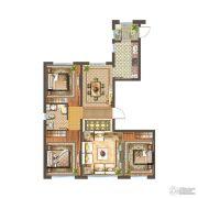 首开铂郡3室2厅2卫146平方米户型图