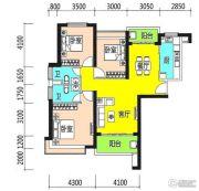 恒大御景半岛3室2厅2卫135平方米户型图