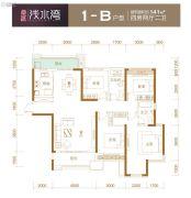 卓越浅水湾4室2厅2卫141平方米户型图