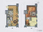 龙山大厦2室2厅1卫50平方米户型图
