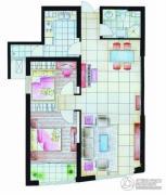 中天盛世观澜2室2厅1卫102平方米户型图