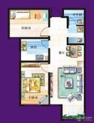 天赐椿城一期嘀嗒2室2厅1卫90平方米户型图