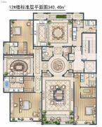 绿城・御京府东区4室3厅5卫340平方米户型图