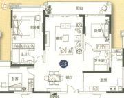 敏捷金月湾3室2厅2卫139平方米户型图