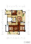 绿城・玉兰花园4室2厅2卫138平方米户型图