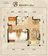 滨湖・阳光里2室2厅1卫88平方米户型图