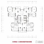 恒大雅苑3室2厅1卫77平方米户型图