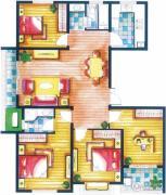 上书房4室2厅2卫127平方米户型图