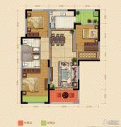 中海锦苑3室2厅2卫119平方米户型图