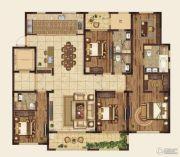 高科紫微堂4室2厅4卫219平方米户型图
