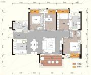 汇金城4室2厅2卫126平方米户型图
