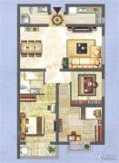 中央名都3室2厅2卫108平方米户型图