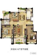光明・中央公园3室2厅1卫105平方米户型图