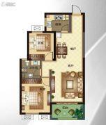 华明星海湾2室2厅1卫85平方米户型图