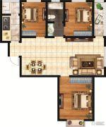 和富名苑3室2厅1卫119平方米户型图