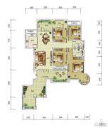 华润中央公园4室2厅2卫196平方米户型图
