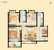 香溪左岸3室2厅1卫0平方米户型图