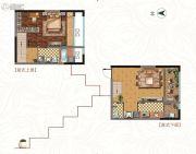 中铁逸都1室1厅2卫77平方米户型图