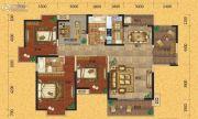欧景蓝湾3室2厅2卫145平方米户型图