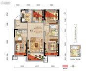 金辉优步湖畔3室2厅2卫115平方米户型图
