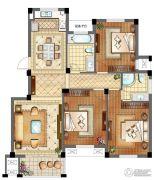 滨江丽景3室2厅2卫130平方米户型图
