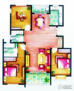 上书房3室2厅2卫137平方米户型图