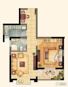 芙蓉山庄1室2厅1卫65平方米户型图