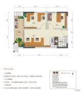 华润国际社区2室1厅1卫0平方米户型图