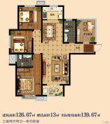 淳茂公园城4室2厅2卫126--139平方米户型图