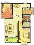 东方明珠2室2厅2卫114平方米户型图