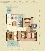 云峰花园3室2厅2卫0平方米户型图