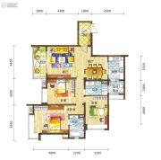 新鸿基悦城3室2厅2卫142平方米户型图