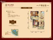 盘锦恒大华府2室2厅1卫101平方米户型图
