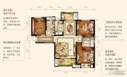 中海琴台华府3室2厅2卫125平方米户型图