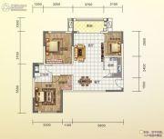 碧桂园城市花园3室2厅1卫89平方米户型图