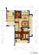 绿城・玉兰花园3室2厅2卫131平方米户型图