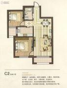 天麓花园2室2厅1卫85平方米户型图