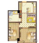 通用国际2室1厅1卫78平方米户型图