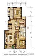 胜古誉园3室2厅2卫110平方米户型图