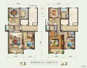 白鹿洲华府4室2厅4卫162平方米户型图